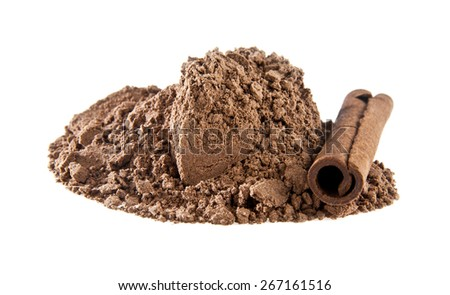 cinnamon on a white background - stock photo