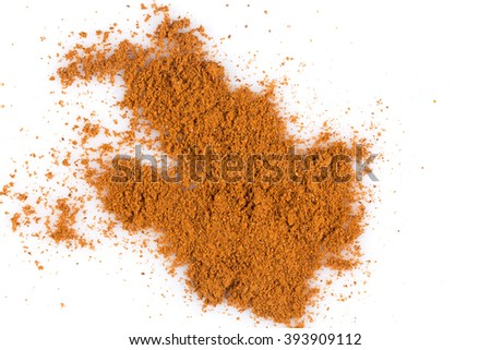 cinnamon  powder isolated on a white background - stock photo
