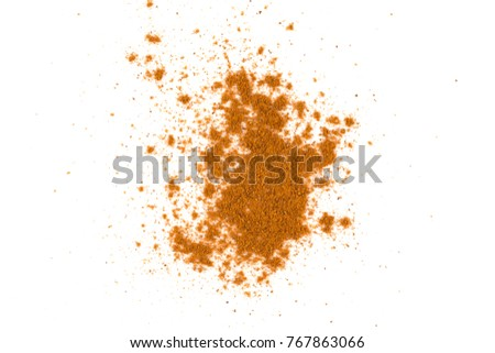cinnamon powder isolated on a white background