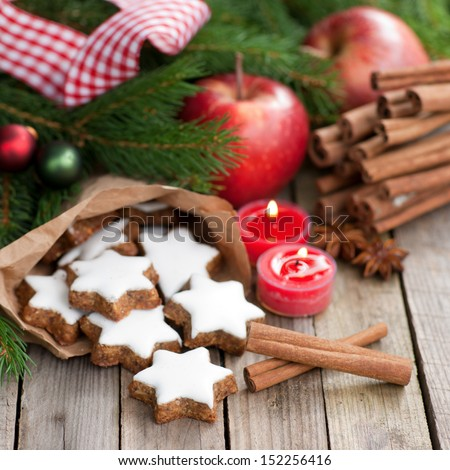Cinnamon stars - stock photo