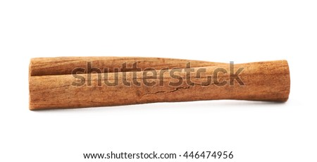 Cinnamon stick isolated over the white background
