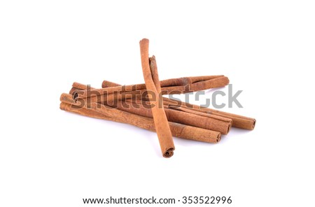 cinnamon stick spice on white background