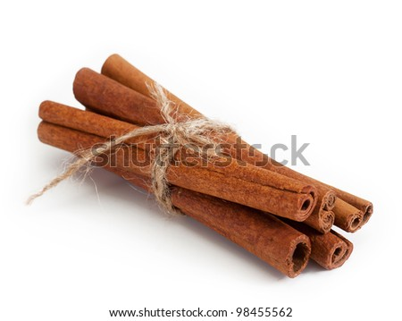 cinnamon sticks . isolated on a white background - stock photo