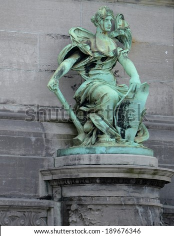 Cinquantenaire Statue Brussels, Belgium - stock photo