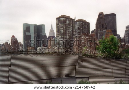 CIRCA JULY 1999 - NEW YORK: the skyline of Midtown Manhattan seen from Roosevelt Island, New York, USA.