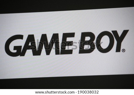 "CIRCA MARCH 2014 - BERLIN: the logo of the brand ""Game Boy""."