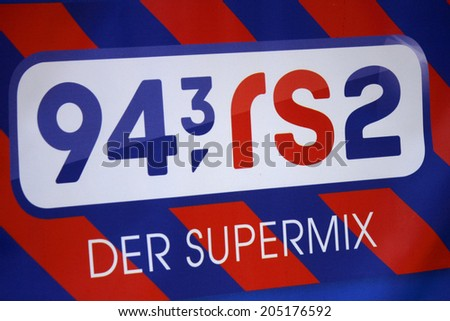 "CIRCA MAY 2014 - BERLIN: the logo of the brand ""94,3 rs2""."