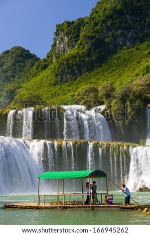 CIRCA SEPTEMBER 2011 - CAO BANG, VIETNAM - The Ban Gioc Waterfalls on the border with China, on 22 September 2011, in Cao Bang, Vietnam