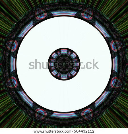 Circle abstract, Abstract background Laser light multicolored for design , Pattern