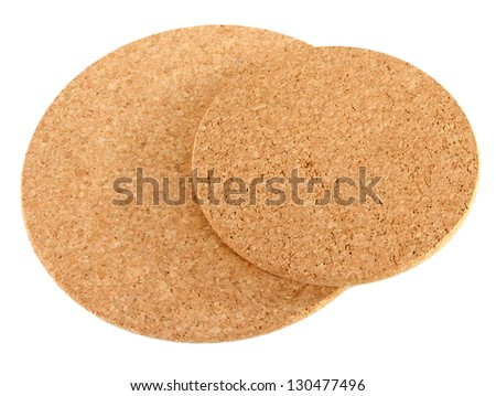 Circle corkboard isolated on white
