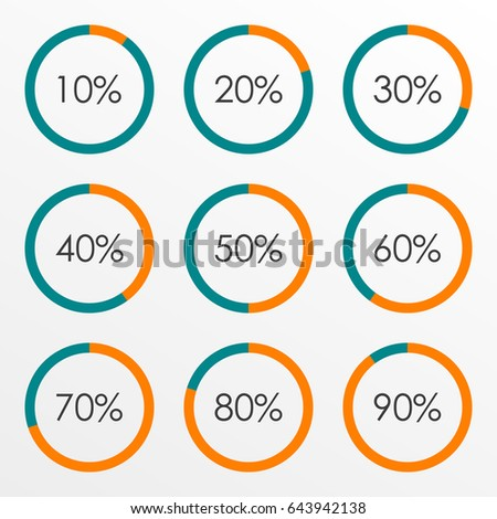 Circle diagram set percentage pie chart stock illustration 643942138 circle diagram set with percentage pie chart infographics template 10 20 30 40 50 ccuart Images