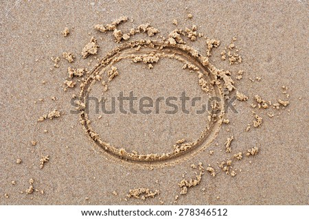 circle in the sand - stock photo