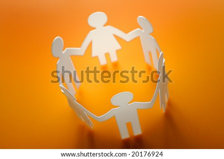 Circle of figures - stock photo