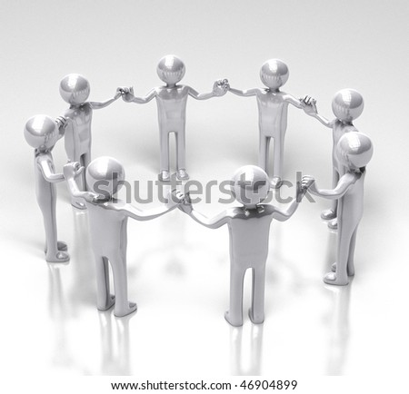 Circle of Unity and Equality - stock photo