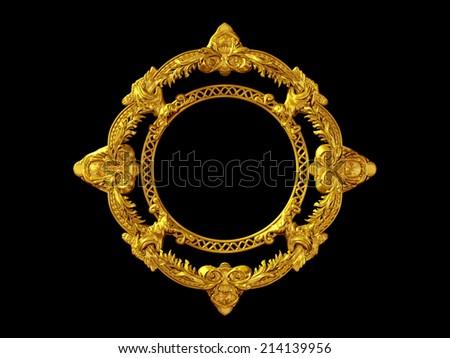 circle, ornamental frame  - stock photo