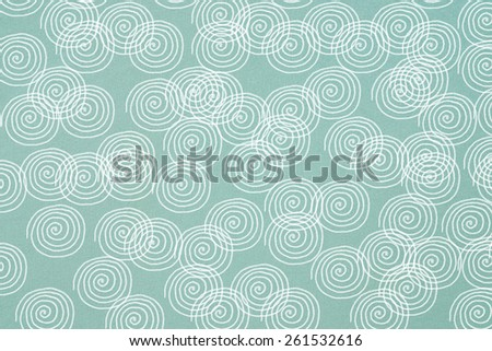 circle prints on colorful cotton textile - stock photo