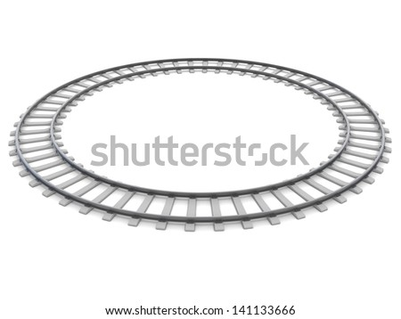 circle railway track - stock photo