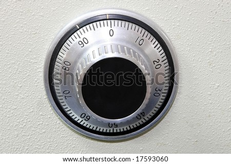 Circle safe combination dial lock with numbers