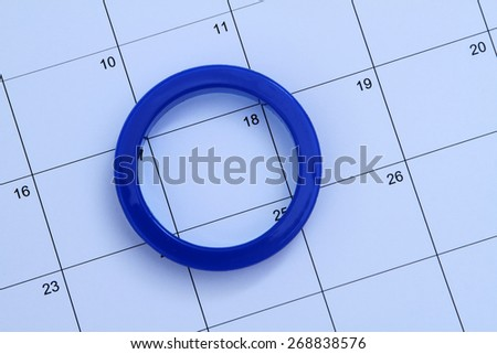 Circle the Date - stock photo