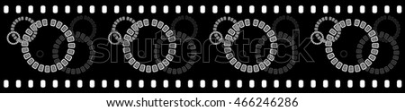 Circles - Filmstrip Background Suitable for Custom Text and Images