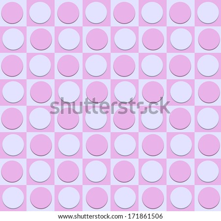 Circles inside squares./Dots and Squares - stock photo