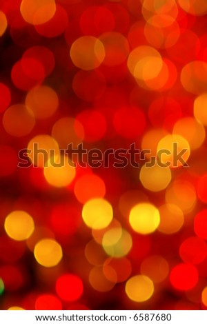 Circles of light - abstract Christmas decoration - stock photo