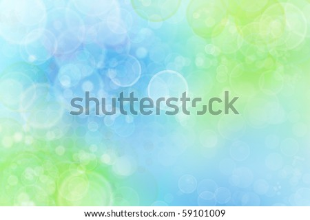 Circles on blue and green background