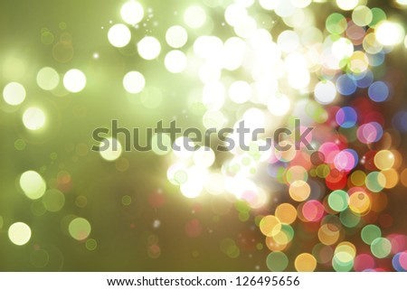 Circles on green tone background