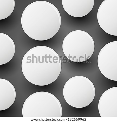 Circles With Shadow | Abstract Background - stock photo