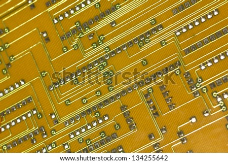 Circuit board. - stock photo