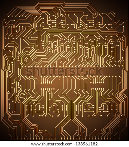 Circuit board background. Raster version of the loaded vector