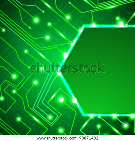circuit board background, technology illustration