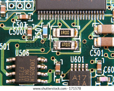 circuit board, great background, good detail and sharpness - stock photo