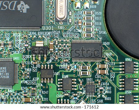 circuit board, great background, good detail and sharpness