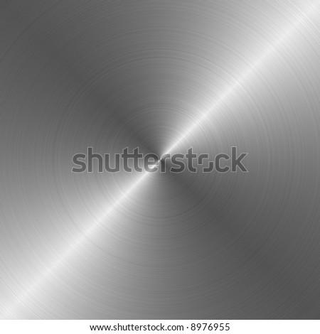 circular brushed metallic background - stock photo