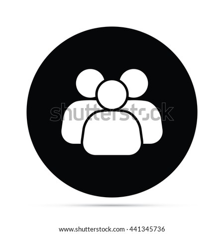 Circular Business Team Icon.  Raster Version - stock photo