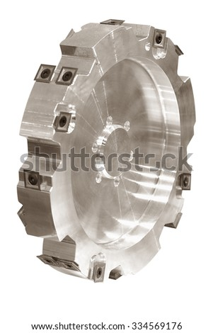 Circular cutter blade isolated on white background