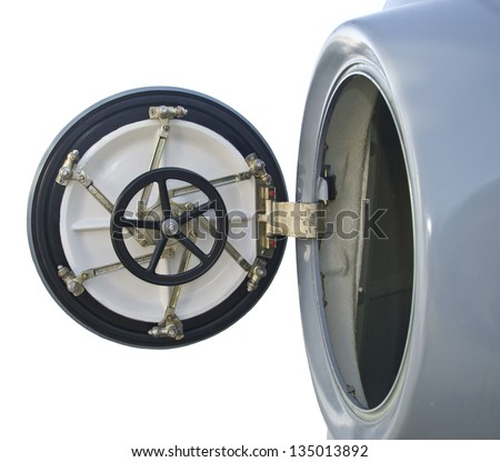 Circular door on board military  sc 1 st  Shutterstock & Circular Door On Board Military Stock Photo (Royalty Free) 135013892 ...