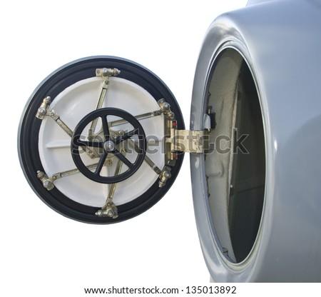 Circular door on board military  sc 1 st  Shutterstock & Circular Door On Board Military Stock Photo (Royalty Free) 135013892 ...