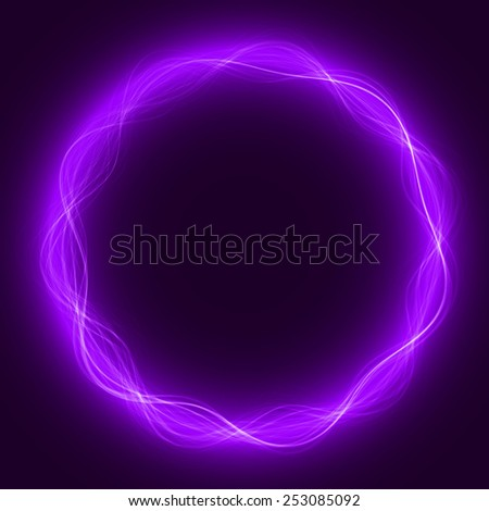 circular energy waves(violet colored, waves version)