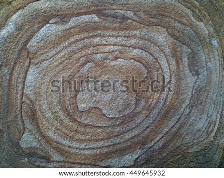 Circular patterns on the stone - stock photo