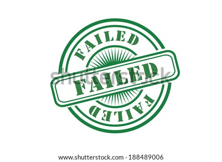 circular rubber stamp of failure or a failed attempt - stock photo