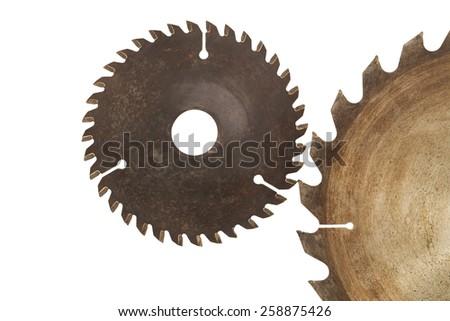 Circular saw isolated - stock photo