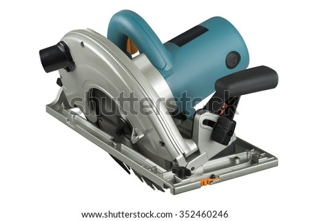 circular saw isolated on a white background