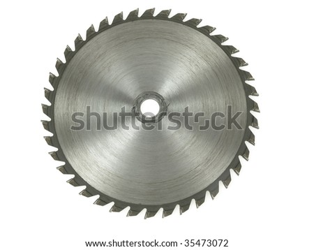 Circular saw isolated over a white background - stock photo