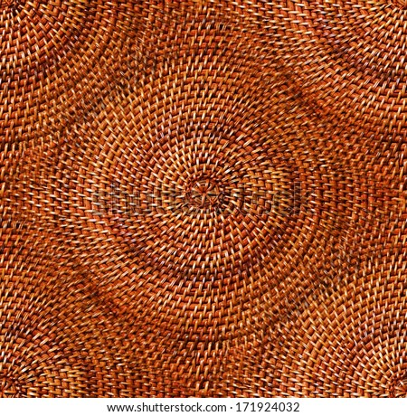circular wicker detail abstract