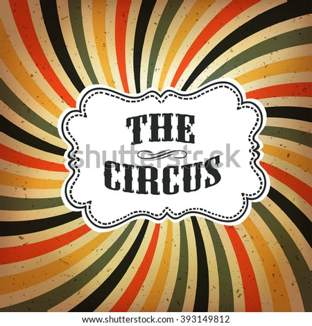 Circus Abstract Poster with Colored Rays Background. Raster version - stock photo