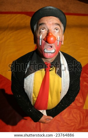 circus clown - stock photo