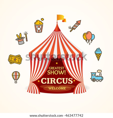 Circus Concept Can be Used for Invitation, Card, Poster or Flyer. illustration