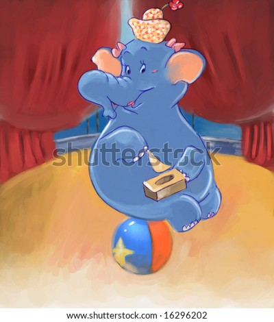 circus elephant  (search the word nikos for more) - stock photo